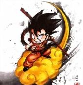 《龙珠》开播30周年官方推出水墨风格人物画