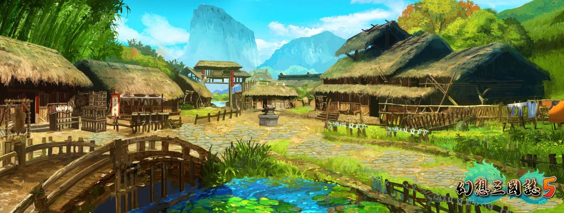 《幻想三国志5》全新2D游戏场景原画首次曝光