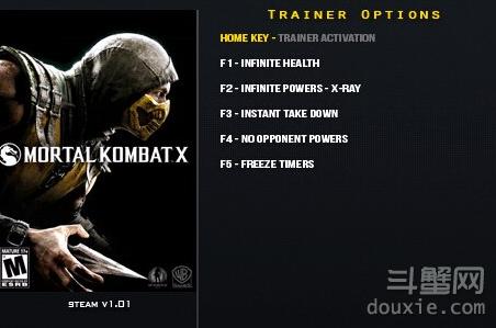 真人快打X游戏攻略修改器下载 v1.01五项修改器
