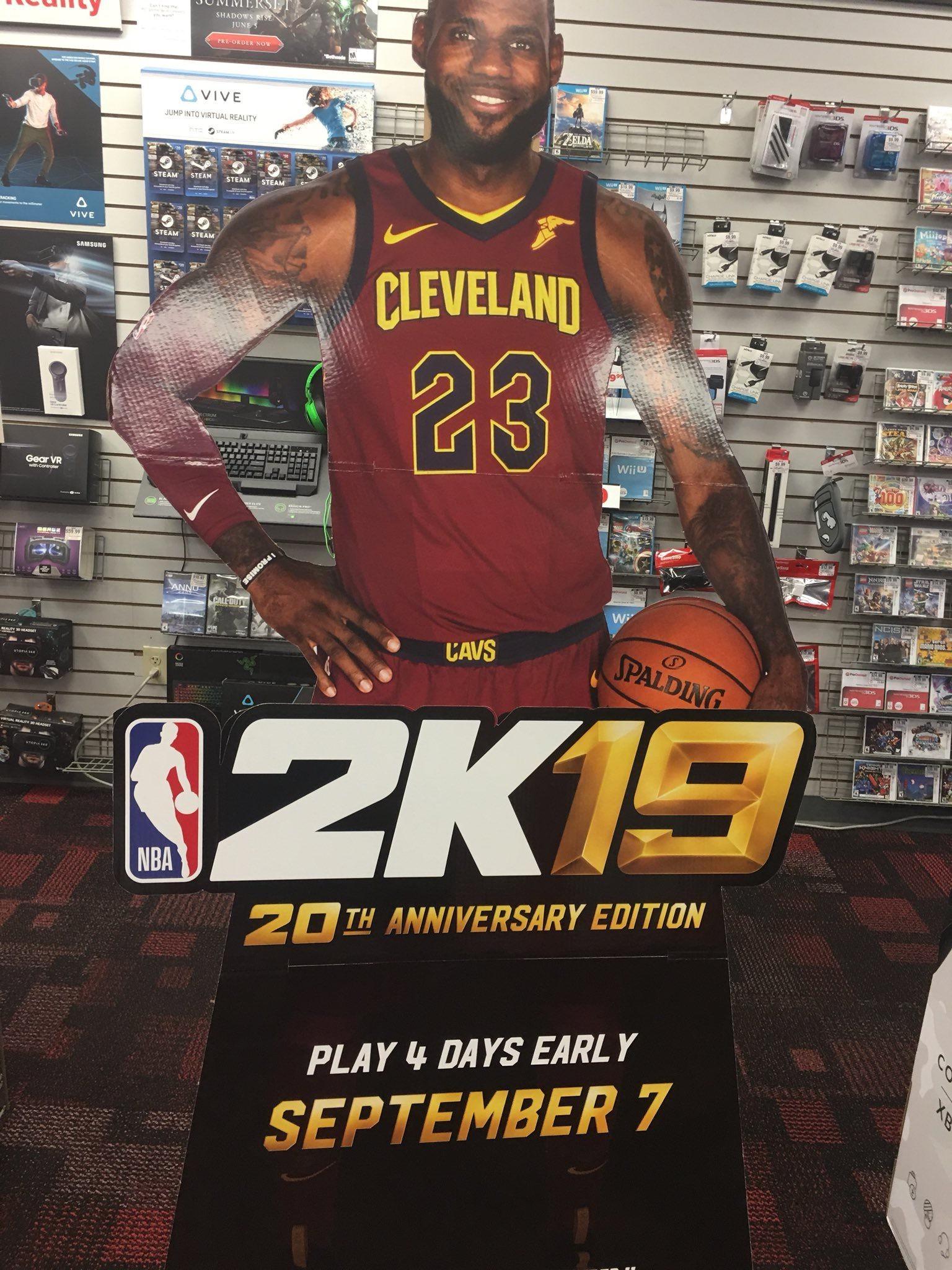 勒布朗·詹姆斯喜上《NBA 2K19》封面 9月11日发售