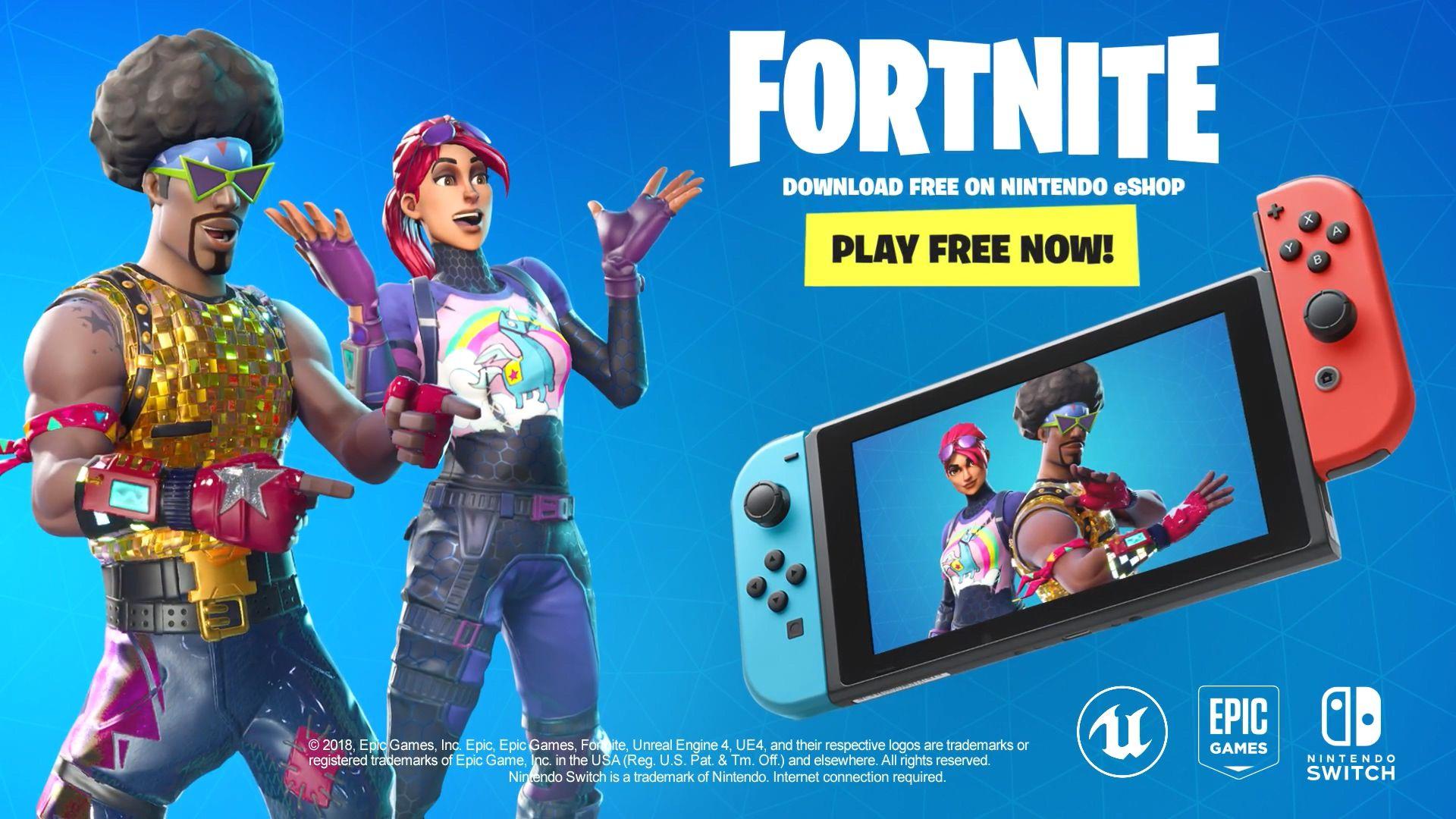 E32018堡垒之夜免费登陆Switch今天就能下载