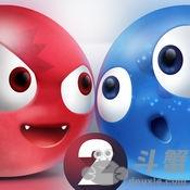 抖音上红蓝小球对战的游戏