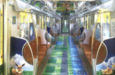 东京推出《精灵宝可梦Let's Go!皮卡丘/伊布》主题的地铁