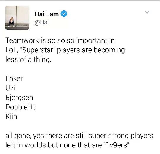 Hai掌门发文:团队协作比个人能力重要