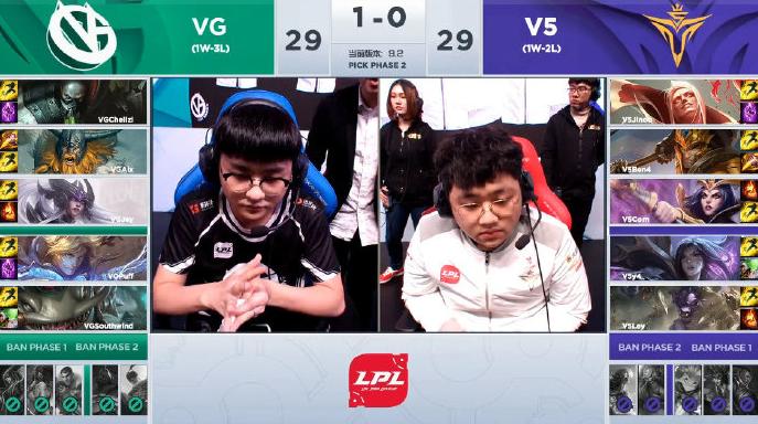 双V对决鏖战三场 V5让一追二最终取胜