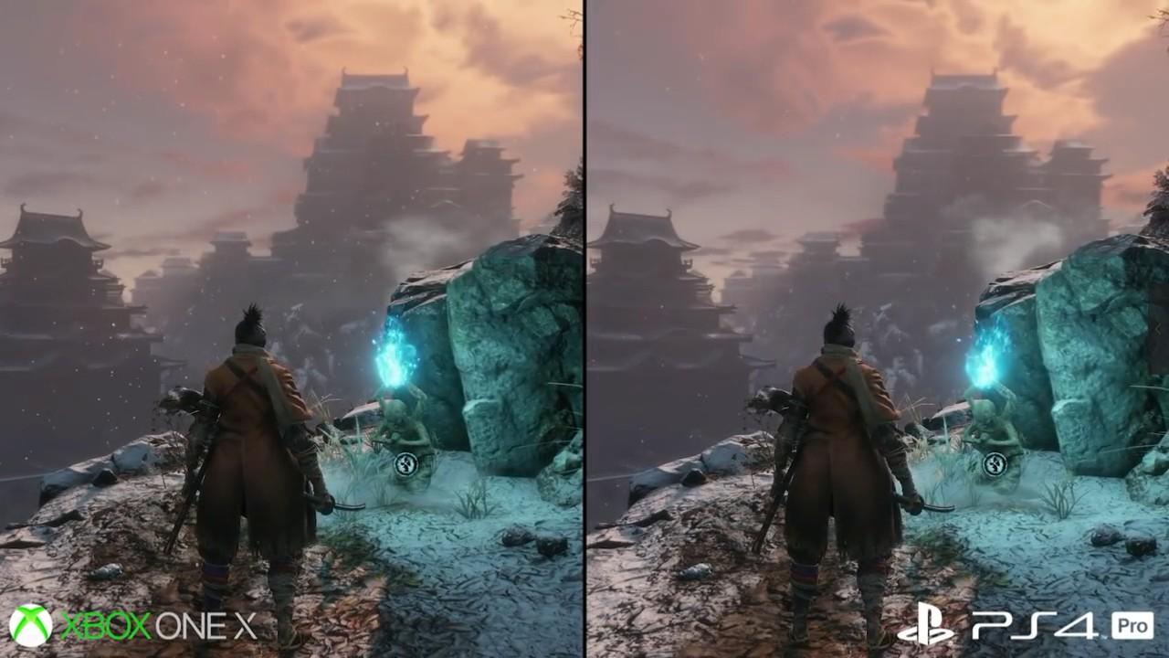 《只狼:影逝二度》主机帧数画面临比  平均1080p/30帧