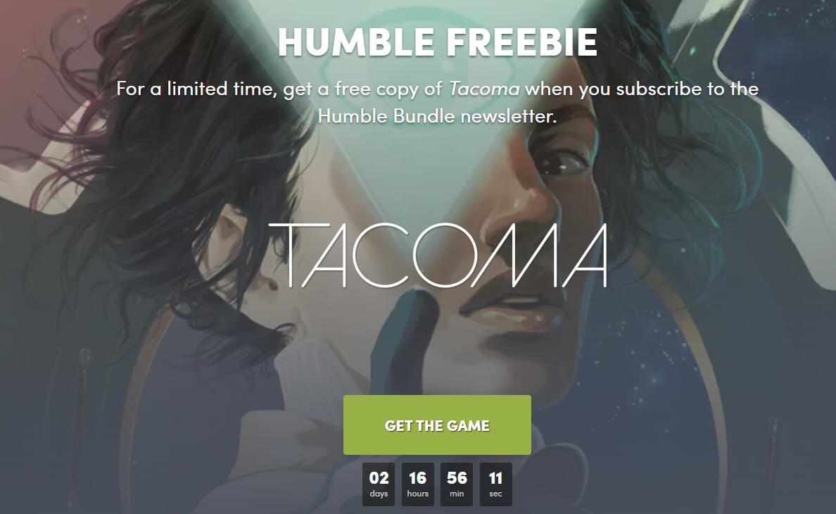 《塔科马》限时免费领取  Steam又一次喜加一活动开启