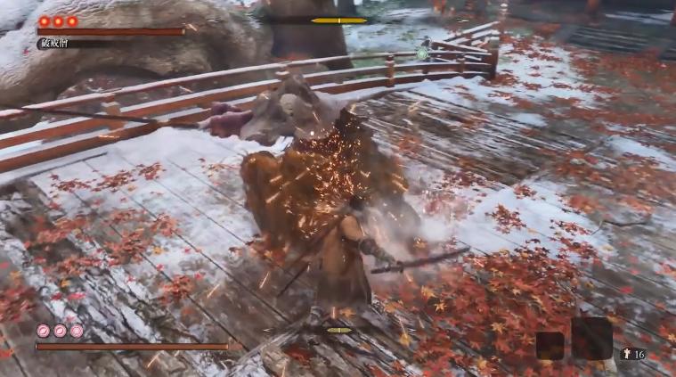 《只狼:影逝二度》高玩发布击败破戒僧视频  完美预判抵挡