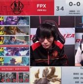 全线压制三路开花 FPX获胜稳住榜首位