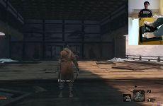 《只狼 影逝二度》玩家用偏向盘击败了Boss苇名玄一郎  神乎其技