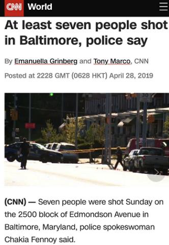 巴尔的摩枪击案是什么情况-巴尔的摩枪击案详情一览