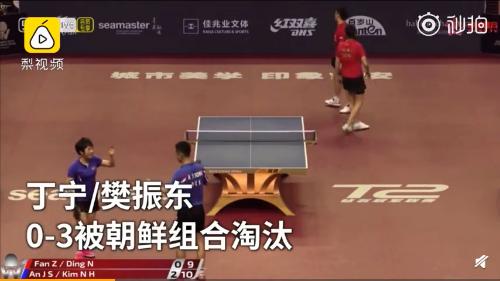 丁宁樊振东资格赛出局:丁宁樊振东被朝鲜组合横扫,混双资格赛出局