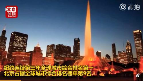 全球城市综合排名:纽约伦敦巴黎前三,北京第九华盛顿第十