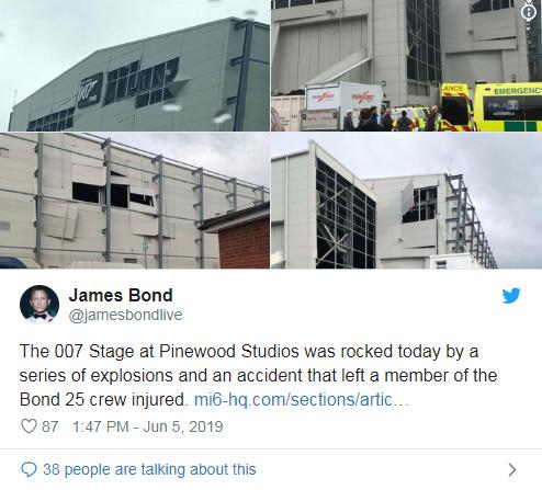 007片场发生爆炸:第25部《007》再出意外!片场发生爆炸一片狼藉