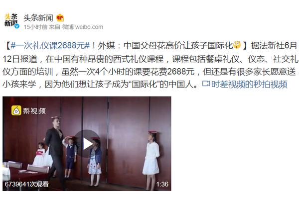 一次禮儀課2688元!外媒:中國父母花高價讓孩子國際化