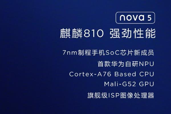 华为麒麟810芯片:华为发布nova5系列,以及全新的麒麟810芯片