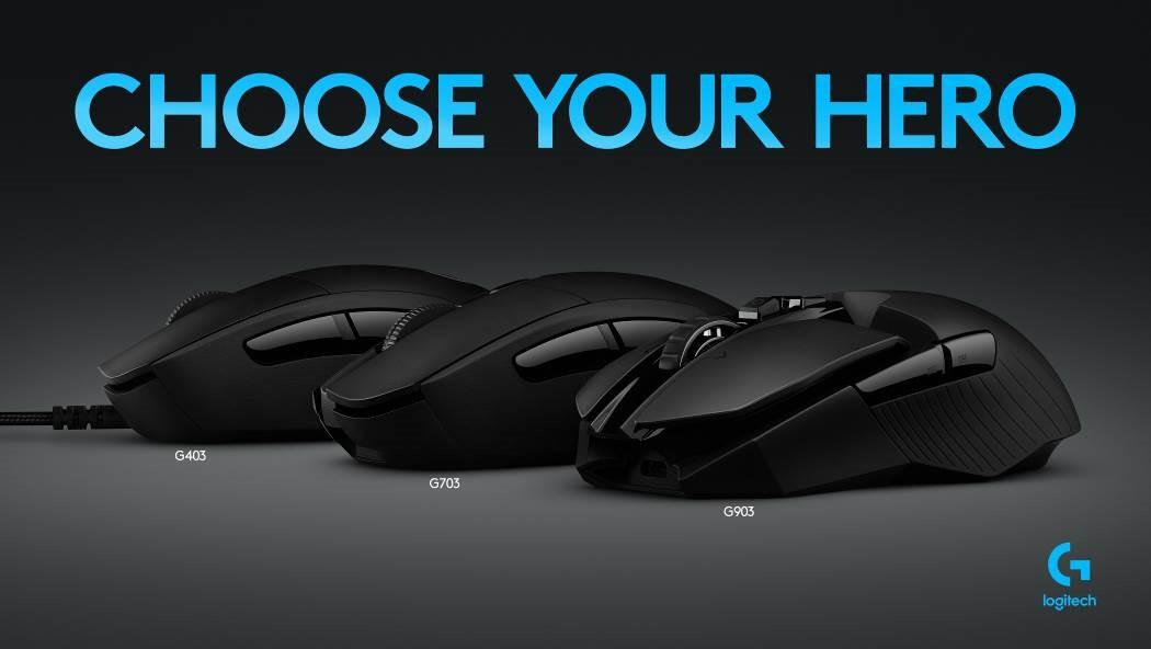 """英雄之核 焕""""芯""""集结 罗技HERO系列G903,G703,G403全新鼠标震撼发布"""