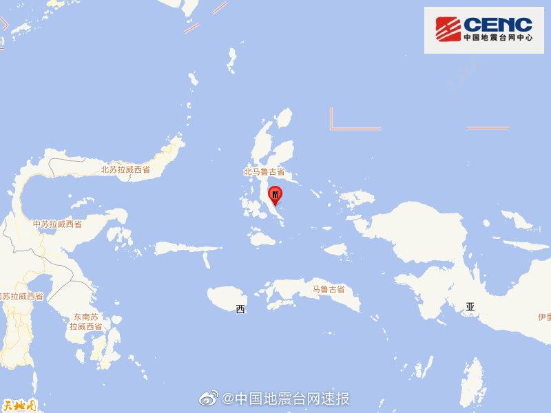 印度尼西亚哈马黑拉岛发生7.1级地震