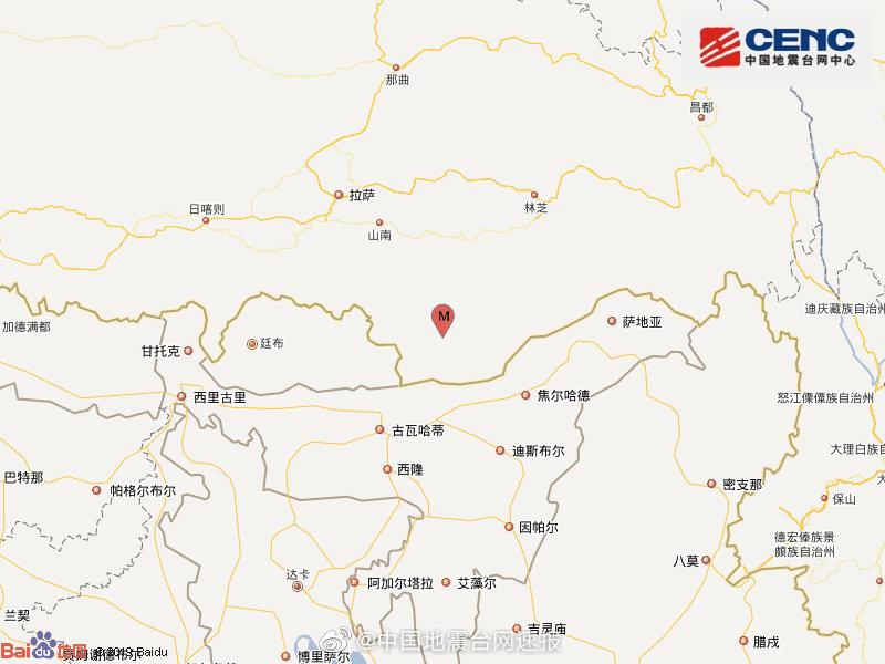西藏山南3.8级地震是怎么回事-西藏山南3.8级地震详情介绍