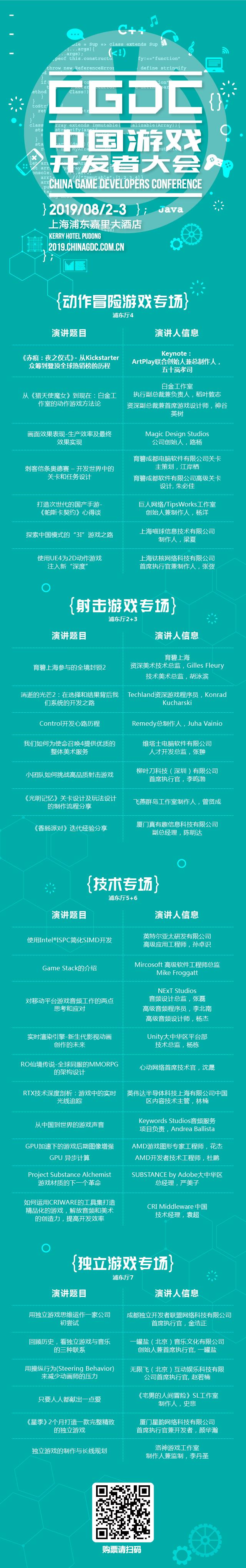 2019中国游戏开发者大会8月3日嘉宾预览!