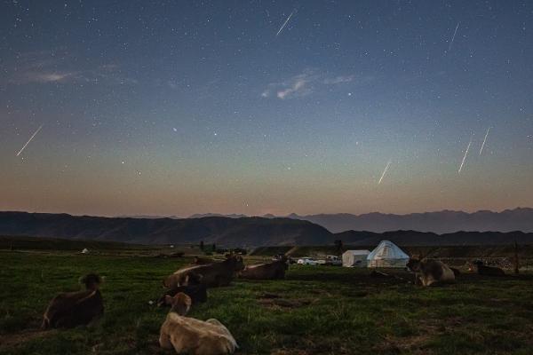 英仙座流星雨:今夜至明日凌晨,英仙座流星雨划过我国上空