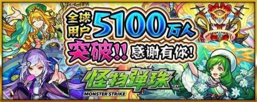 《怪物弹珠》全球下载5100万人突破纪念活动介绍