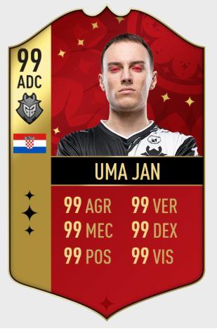 LOL版FIFA卡出炉,Faker和Uzi评分最高,你想买谁?