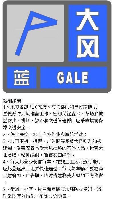 北京发布大风蓝色预警信号,阵风可达7级左右