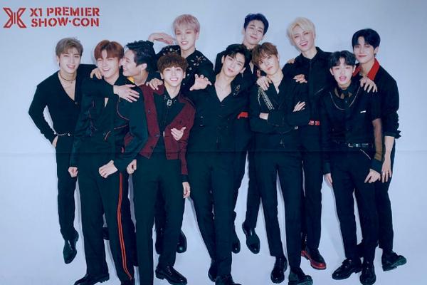 男团X1出道:由《ProduceX101》诞生的11人男团X1今日正式出道!