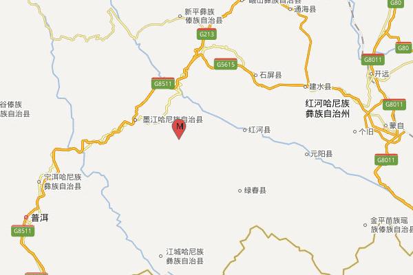 云南玉溪市元江县发生3.9级地震,震源深度8千米