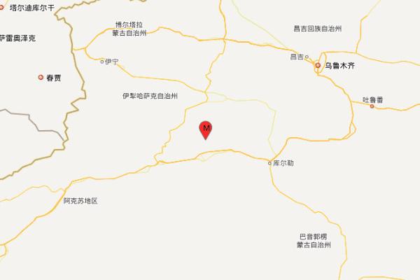 新疆巴音郭楞州轮台县爆发4.1级地动,震源深度21千米