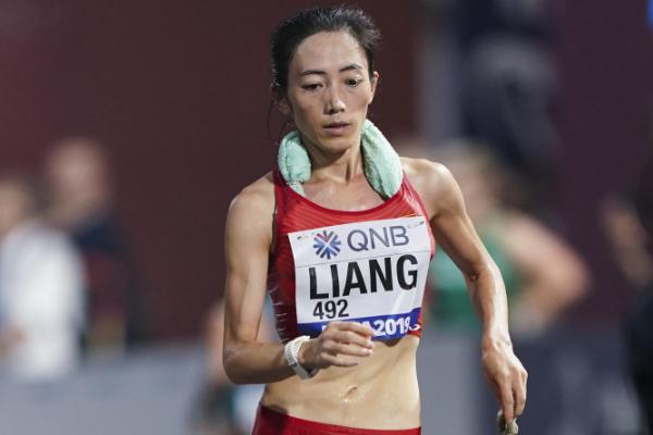 中国队世锦赛首金:田径世锦赛梁瑞夺女子50公里竞走冠军