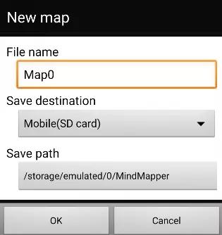 在MindMapper Android版中新建导图方法