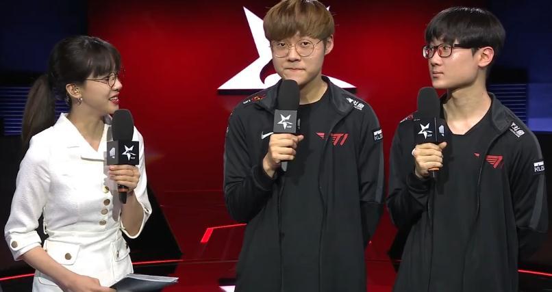 经验老辣演技逼真,T1零封对手四连胜,赛后采访还曝出一个趣闻!