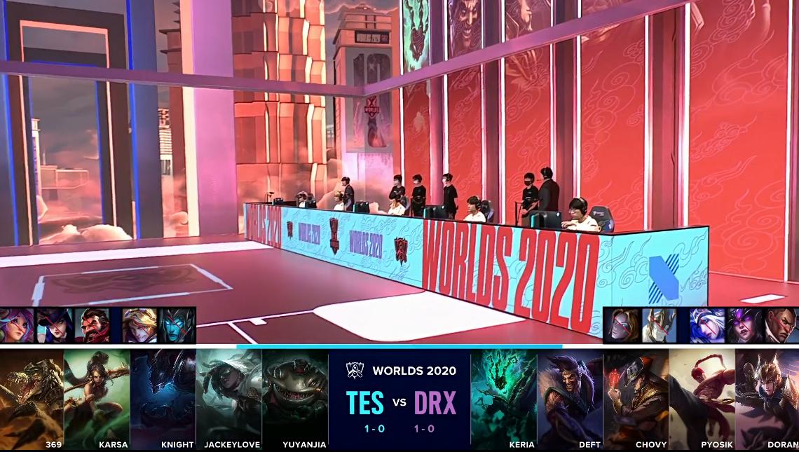 TES战胜DRX 拿下两连胜!阿水疯狂亮IG图标让人动容