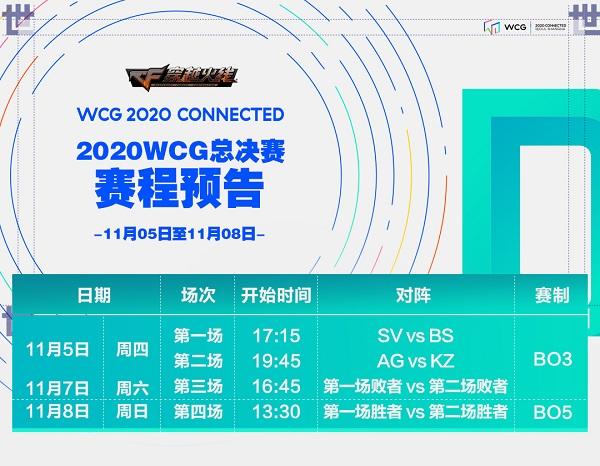 WCG丨11.5预告:总决赛开战,四豪强争冠军荣誉