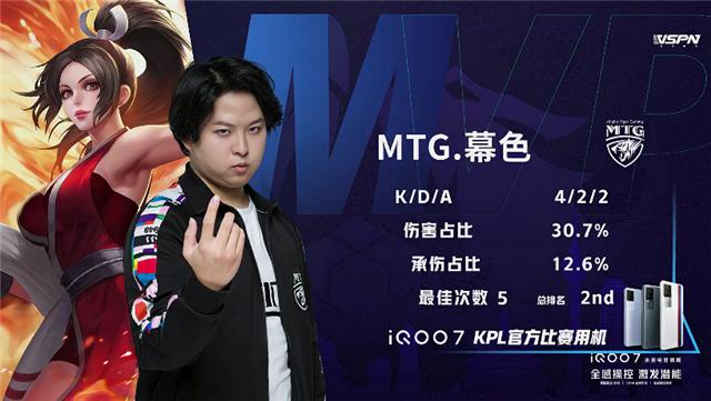 春季赛快讯:MTG零封上海EDG.M 以全胜战绩晋级